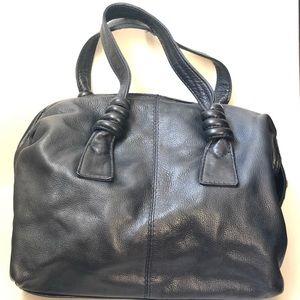 Liz Claiborne Bags - Beautiful Vintage Navy Leather Satchel